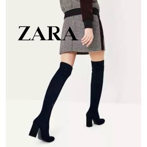 Zara Sparkling Stretch Leg Thigh High Boots